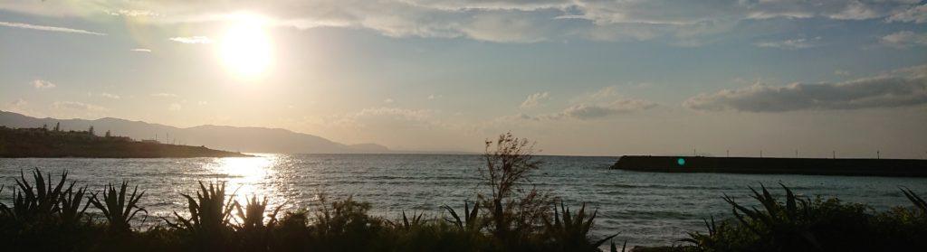 Abendstimmung über der Bucht