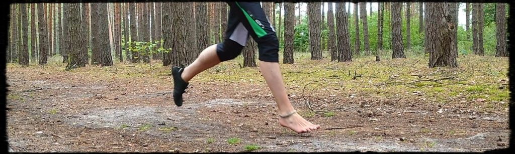 Barfuß-Schuh-Lauf